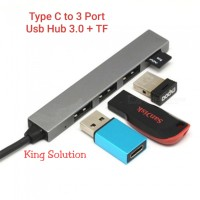 USB Type C 3.1 To USB HUB 3.0 3 PORTS + TF / TYPE C To 3 Port USB Hub