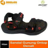 Sandal Gunung Pria On Top Denali Outdoor Hiking Traveling Hitam
