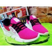 Sepatu Wanita Sneakers Jaring Pink SP43