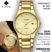 Jam Tangan Formal Pria Wwoor 8830 Full Gold Luxury Anti Air Original