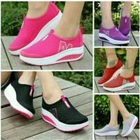 Sepatu Kets Sneakers Wedges Wanita Sepatu Sport Kasual Wanita Anak Cwe
