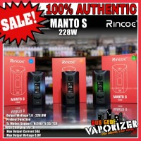 AUTHENTIC RINCOE S 228w BoxMod Black Red blue green merah 228 w