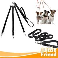 Tali Tuntun Anjing Kembar/Ganda/Double/Dog Triple Twin Leash Heads