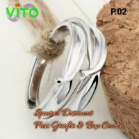 Cincin Kawin Tunangan Couple Perak Sepasang P.02