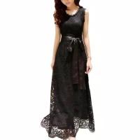 233 Gaun Pesta Lace Sleeveless Long Dress