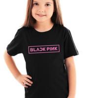 Kaos Baju Obral Combed 30S Distro ANAK KECiL KiDS BLACKPiNK Black Pink