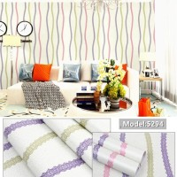 5294 Gelombang 3 Color Wallpaper Dinding 10M x 45Cm