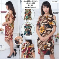 DRESS Batik sabrina /mini dress batik murah