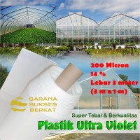 Plastik UV Green House 200 Micron 14 persen uk. 3 m x 1 m