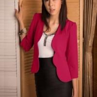 Baju Atasan Wanita Terbaru Blouse Putih Wanita Kerja Korea
