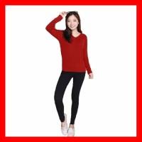 Baju Atasan Wanita Kaos Lengan Panjang Wanita Blouse Putih Wanita