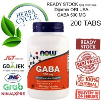Now Foods, GABA, 500 mg, 200 Cap Now GABA, Now Food Gaba ORI USA