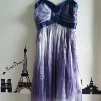 Dress Pesta Ungu Gradasi Tile Furing Payet merk IZIME Second Branded