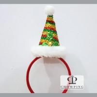 Bando / Bandana Headband Natal Christmas motif TOPI