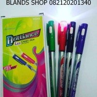 Pulpen / Pena / Pen Senter Warna Warni Per Lusin