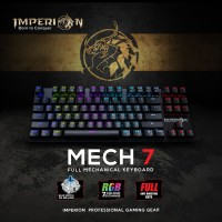 Keyboard Gaming Imperion Mech 7 KG-M07R Mechanical, RGB