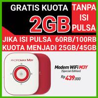 Modem WiFi MiFi Smartfren Andromax M3Y 4G LTE (KUOTA 30 GB) - Putih