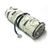 Roll Pensil Case / Tempat Pensil Gulung Kanvas 48 slot