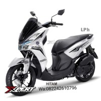 Striping Cutting Yamaha Lexi Putih Sporty edition