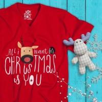 KAOS NATAL ALL I WANT FOR CHRISTMAS IS YOU BAJU TSHIRT