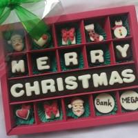 coklat ucapan natal isi 20 kotak