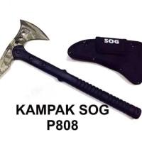KAPAK SOG 808 HIJAU LORENG / KAMPAK SOG 808 / SURVIVAL KIT IMPORT