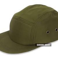 (TOPI POLOS) BASIC HAT 5 PANEL ARMY PREMIUM