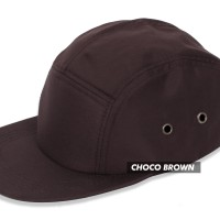 (TOPI POLOS) BASIC HAT 5 PANEL CHOCO BROWN PREMIUM - Cokelat