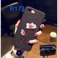Unik Soft Case Motif Bordir untuk iPhone 6 / 6S / 7 / 8 Plus Diskon