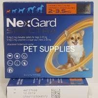 obat kutu anjing ampuh NEXGARD SPECTRA, XS (2-3.5 Kg)