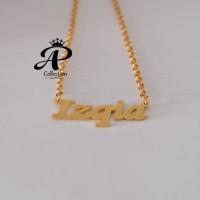 Kalung Nama lapis emas 24k Awet dan Murah