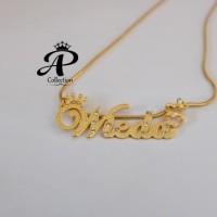 Kalung Nama Anak lapis emas 24k Awet dan Murah