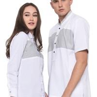 baju couple pria wanita pasangan serasi kemeja couple putih C6
