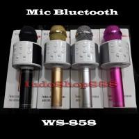 Mic Karaoke Bluetooth WS858 / Mic WS 858 / Mic wireless Microphone