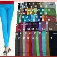 Celana Katun Wanita Pensil Panjang Polos Merek 3R Size Xxl