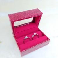 kotak perhiasan kulit cincin pasangan / cincin nikah / cincin couple