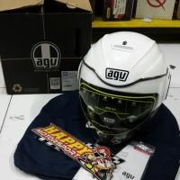 Helm Half face merk AGV Fluid Pearl White (SNI) size L