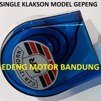 Single Klakson Gepeng Suara Keras Tone Stereo Horn 12v Mobil Motor