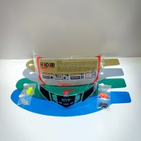 paket flat visor + tear off + post + spoiler pnp kyt rc7