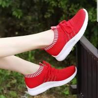 Sepatu Wanita Kets Casual Merah SP42