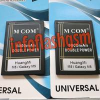 Baterai Mcom Doublepower Huangmi Hung Hong Mi M5 Galaxy M5 Original