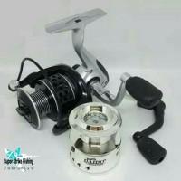 Reel Spinning Daido Panamera 6000 8BB Free Spool + Handle Pancing Laut