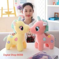 SOFT UNICORN DOLL /BONEKA KUDA UNICORN CANTIK LUCU IMPORT UKURAN 40CM