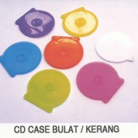 YCI Kotak CD Case Oval / CD Kerang Tempat DVD Plastik Bulat Tebal