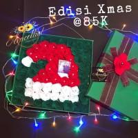 Hadiah Kado Natal Unik Romantis Bucket Buket Bunga Box Flanel Wanita
