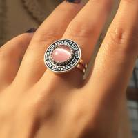 Almina london silver collection Ring Silk Road Pink Quartz