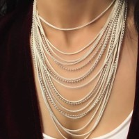 Almina london silver collection Necklace Silk Road Chain