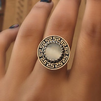 Almina london silver collection Ring Silk Road White Quartz