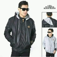Jaket Pria Parasut-Fleece (Bolak Balik)Best Seller Produk Size XL-XXL