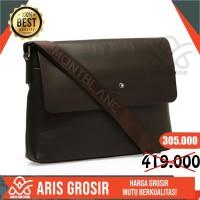 Tas Selempang Laptop Kulit Pria (Coffee) Waist Bag New Brand premium